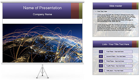 Continent Trajectory PowerPoint Template