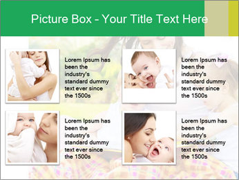 Mama And Baby At Backyard PowerPoint Template - Slide 14