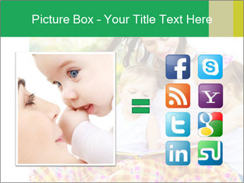 Mama And Baby At Backyard PowerPoint Template - Slide 21
