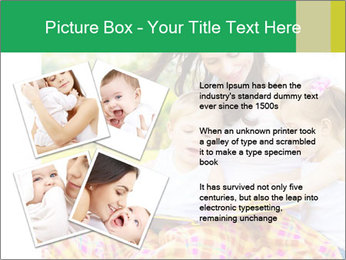 Mama And Baby At Backyard PowerPoint Template - Slide 23