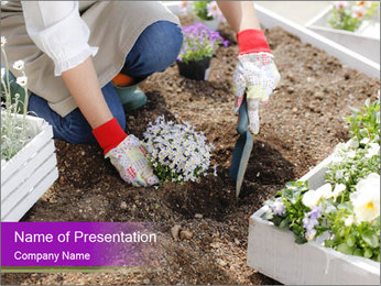 Lifestyle Of Gardener PowerPoint Template