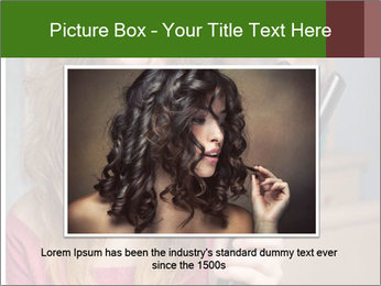 Stressed Woman With Hair Straightening PowerPoint Template - Slide 15