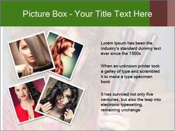 Stressed Woman With Hair Straightening PowerPoint Template - Slide 23