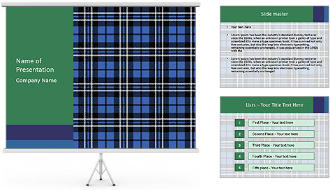 Blue Checkered Blanket PowerPoint Template