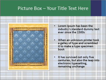 Blue Checkered Blanket PowerPoint Template - Slide 13