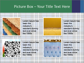 Blue Checkered Blanket PowerPoint Template - Slide 14