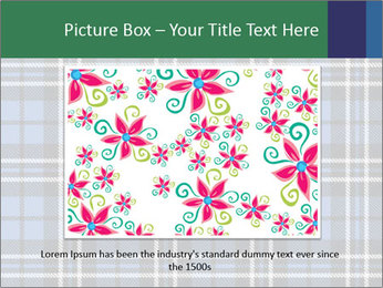 Blue Checkered Blanket PowerPoint Template - Slide 15