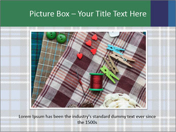 Blue Checkered Blanket PowerPoint Template - Slide 16