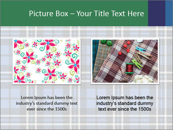Blue Checkered Blanket PowerPoint Template - Slide 18