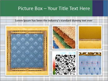 Blue Checkered Blanket PowerPoint Template - Slide 19