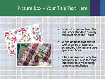 Blue Checkered Blanket PowerPoint Template - Slide 20