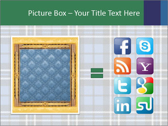 Blue Checkered Blanket PowerPoint Template - Slide 21