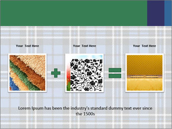 Blue Checkered Blanket PowerPoint Template - Slide 22