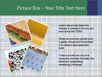 Blue Checkered Blanket PowerPoint Template - Slide 23