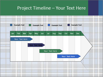 Blue Checkered Blanket PowerPoint Template - Slide 25