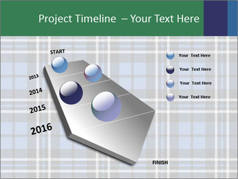 Blue Checkered Blanket PowerPoint Template - Slide 26