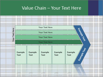 Blue Checkered Blanket PowerPoint Template - Slide 27