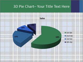 Blue Checkered Blanket PowerPoint Template - Slide 35