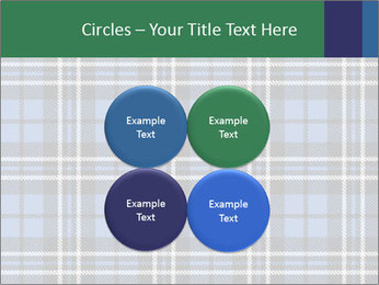 Blue Checkered Blanket PowerPoint Template - Slide 38