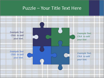 Blue Checkered Blanket PowerPoint Template - Slide 43