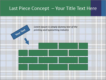 Blue Checkered Blanket PowerPoint Template - Slide 46