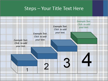 Blue Checkered Blanket PowerPoint Template - Slide 64