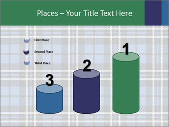 Blue Checkered Blanket PowerPoint Template - Slide 65