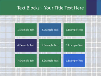 Blue Checkered Blanket PowerPoint Template - Slide 68