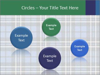 Blue Checkered Blanket PowerPoint Template - Slide 77