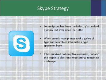 Blue Checkered Blanket PowerPoint Template - Slide 8