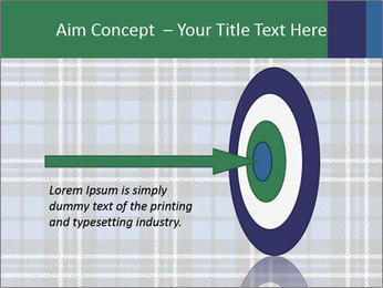 Blue Checkered Blanket PowerPoint Template - Slide 83