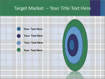 Blue Checkered Blanket PowerPoint Template - Slide 84