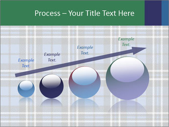 Blue Checkered Blanket PowerPoint Template - Slide 87
