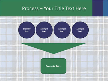 Blue Checkered Blanket PowerPoint Template - Slide 93