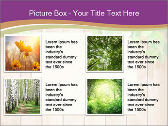 Cute Card On Wooden Board PowerPoint Templates - Slide 14