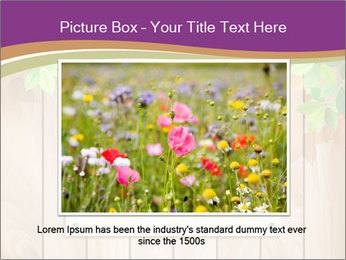 Cute Card On Wooden Board PowerPoint Templates - Slide 15