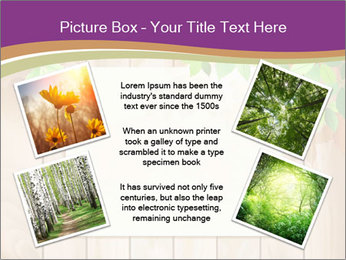 Cute Card On Wooden Board PowerPoint Templates - Slide 24