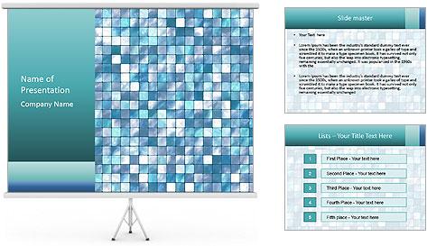 Blue Pixel PowerPoint Template
