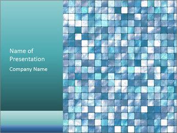 Blue Pixel PowerPoint Template - Slide 1