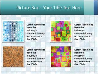 Blue Pixel PowerPoint Template - Slide 14