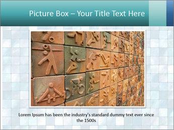 Blue Pixel PowerPoint Template - Slide 15