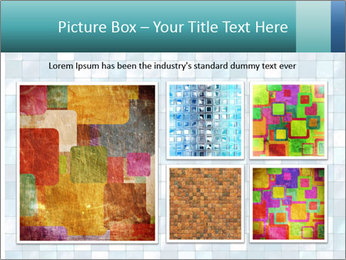 Blue Pixel PowerPoint Template - Slide 19