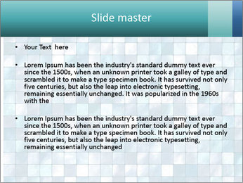 Blue Pixel PowerPoint Template - Slide 2
