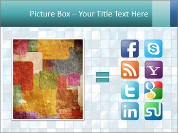 Blue Pixel PowerPoint Template - Slide 21