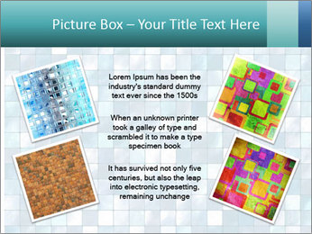 Blue Pixel PowerPoint Template - Slide 24