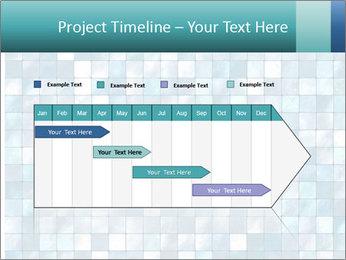Blue Pixel PowerPoint Template - Slide 25