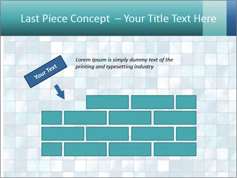 Blue Pixel PowerPoint Template - Slide 46