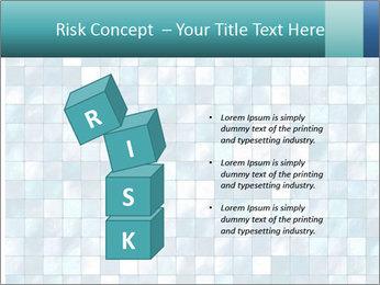 Blue Pixel PowerPoint Template - Slide 81