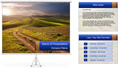 Field In Sicily PowerPoint Template