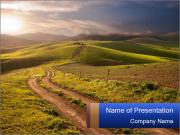 Field In Sicily PowerPoint Templates